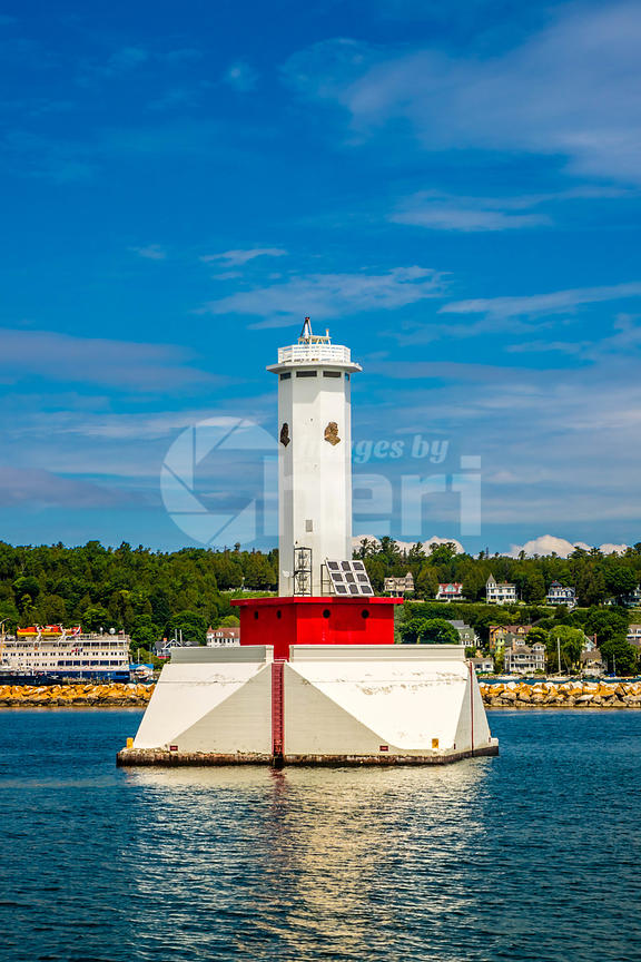 Round Island Lighthouse in Mackinac Island St. Ignace, Michigan