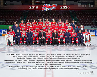 Oshawa Generals team photo on January 15, 2020.