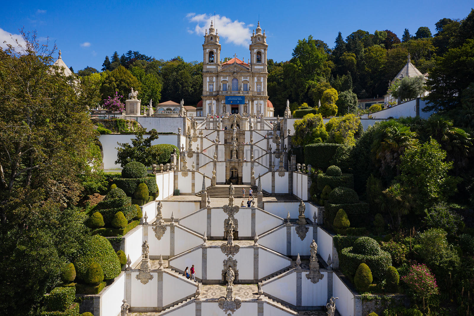 Aerial View of the Steps up to Bom Jesus do Monte