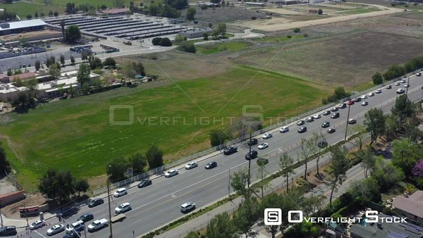 Covid-19 Vaccination Site Pierce College Woodland Hills Los Angeles California Drone Aerial View