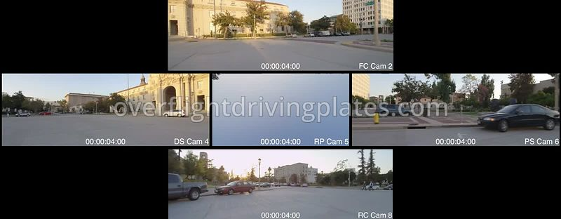 City Hall Dusk  Pasadena California USA - Driving Plate Preview 2012