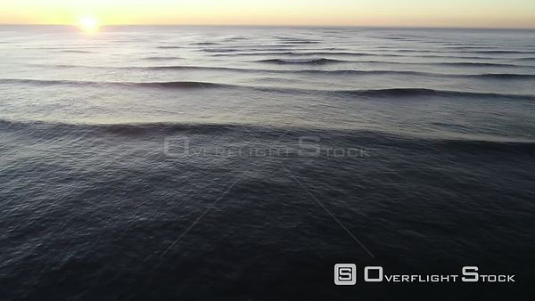 Pacific Ocean Waves off California at Sunset