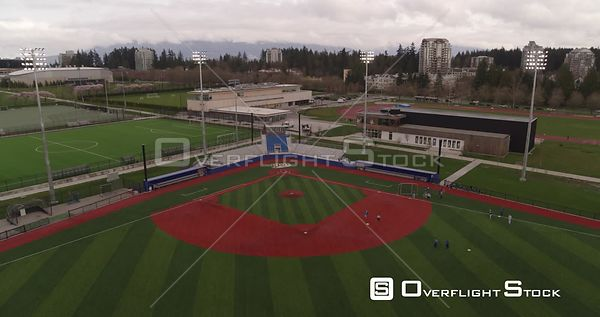 Baseball Diamond at the University of British Columbia Vancouver Canada. Team Practice