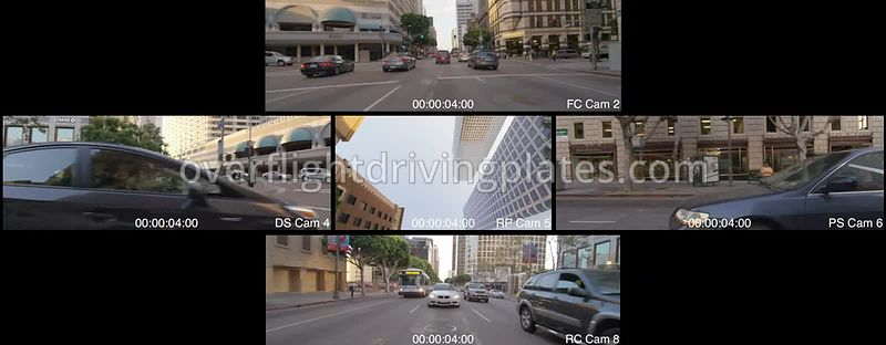 Figueroa Street Sunset  Los Angeles California USA - Driving Plate Preview 2012