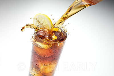 Iced Tea With Splash on White