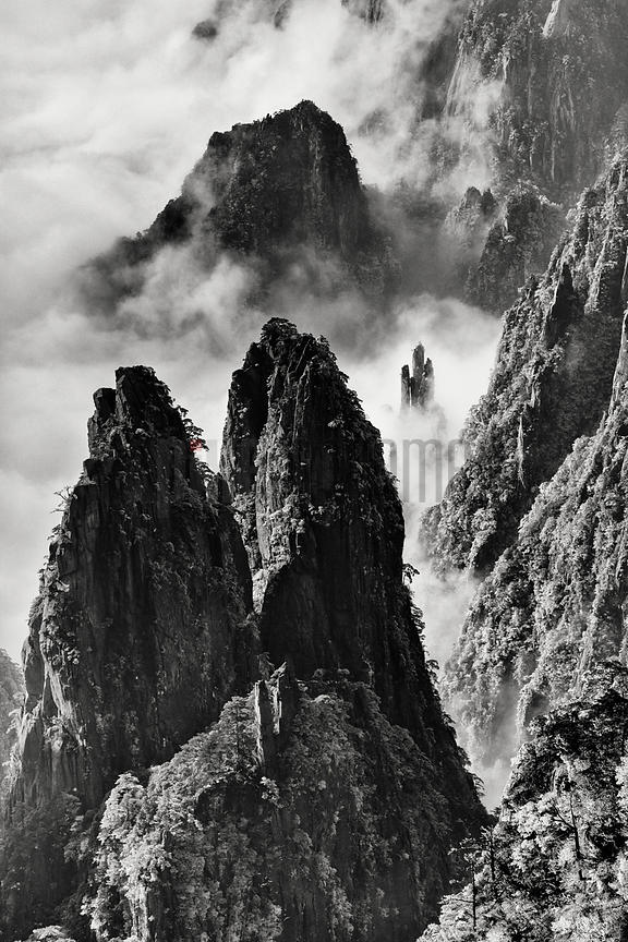 View of the Huangshan Mountains from the Circle of Peaks Viewpoint