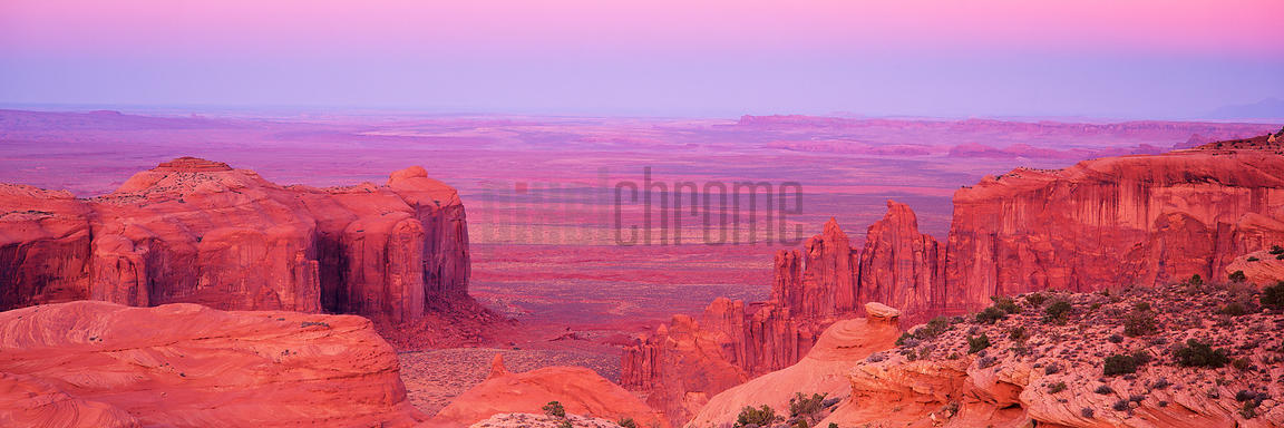 View of Monument Valley from Hunt's Mesa