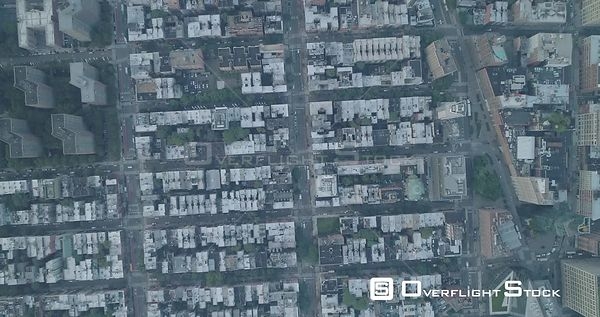 Aerial View of East Village Bowery Looking Down New York City