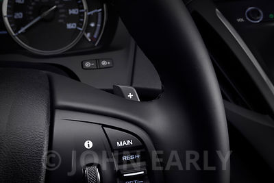 Detail View of Paddle Shifter Controls