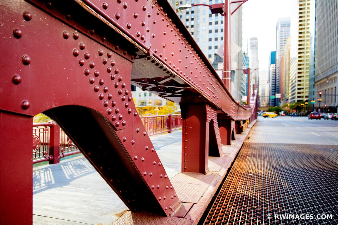 LA SALLE STREET BRIDGE DOWNTOWN CHICAGO ILLINOIS