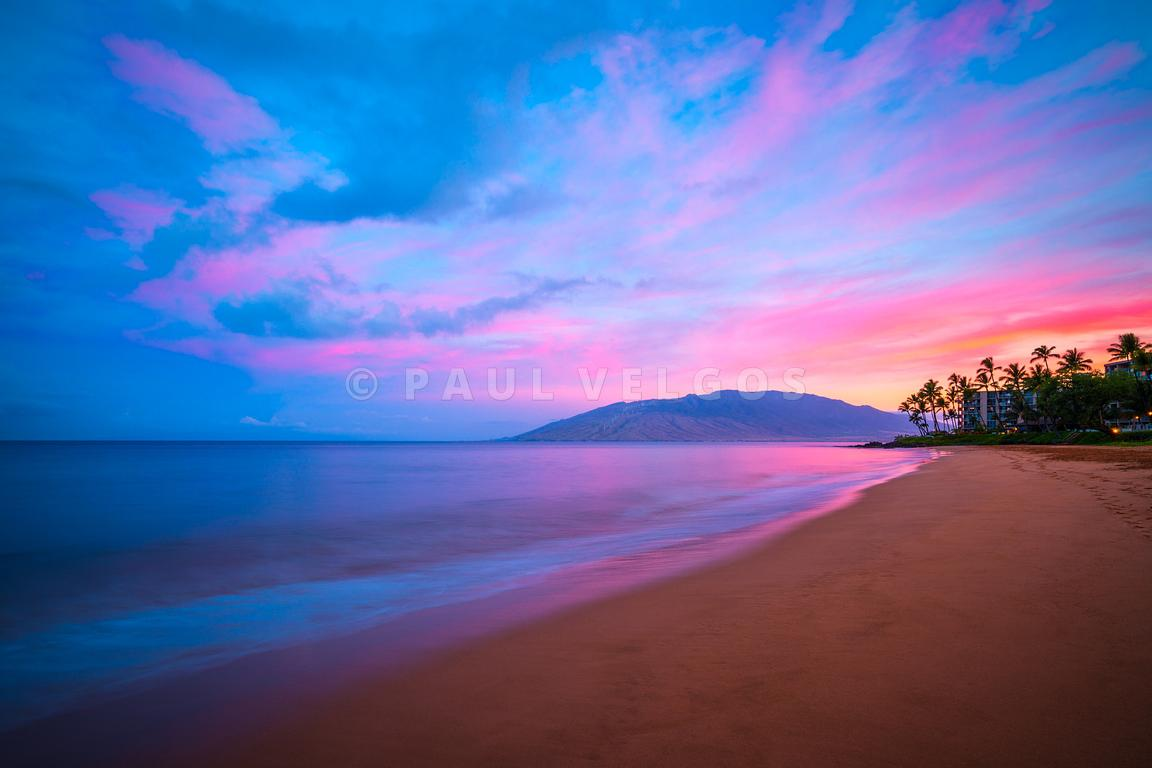 Maui Hawaii Kamaole Beach Kihei Sunrise Photo