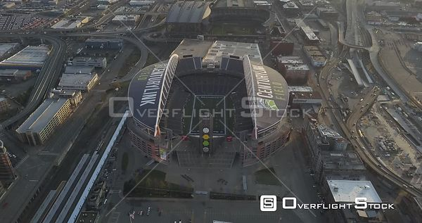 Drone Video Century Link Field Seattle Washington