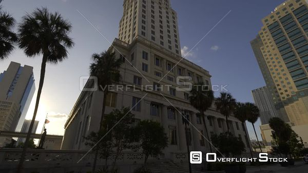 Cinematic Footage Historic Courthouse Building Downtown Miami Fl C4k