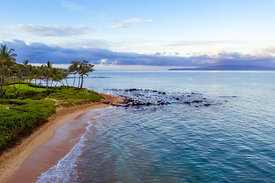 Maui Aerial Photography of Keawakapu Beach