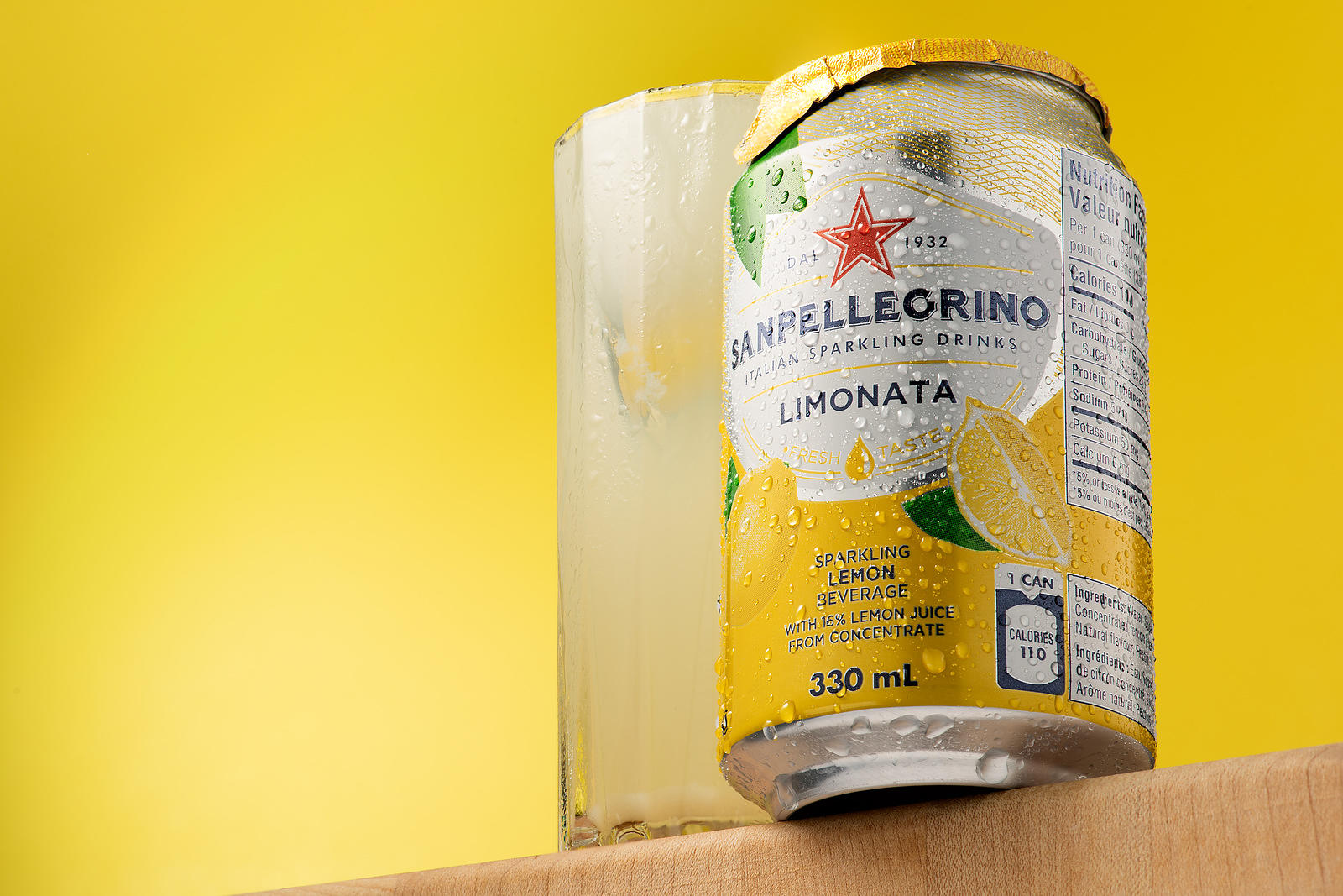 Montreal food photographer, south shore still life & beverage  photography, sanpellegrino lemon
