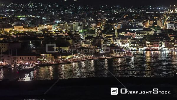 Drone Video Cityscape Chania Crete Greece