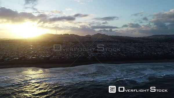 Pacific Ocean off Sunset District San Francisco California