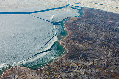 Pack Ice at Fury and Hecla Strait near Rowley Island Nunavut