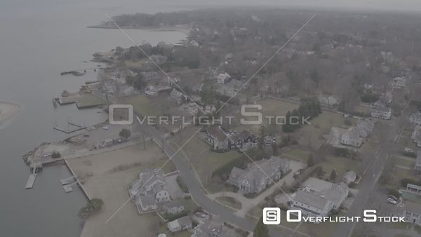 Drone Video Harbor Road abd Southport Harbor Fairfield Connecticut - V-Log