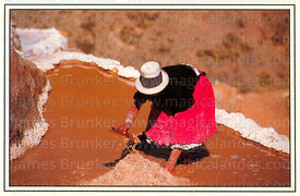 #32 Woman working in the Maras salt mines, Sacred Valley