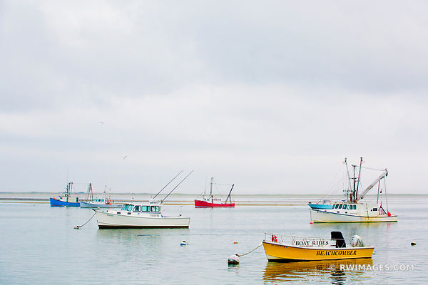 FISHING BOATS IN HARBOR CHATHAM CAPE COD MASSACHUSETTS