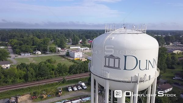 Drone Video Water Tower Dunn North Carolina