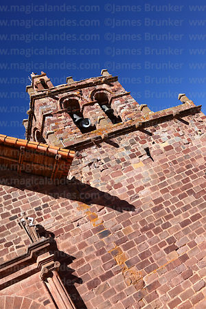 Belfry of San Pedro church, Tiwanaku, La Paz Department, Bolivia