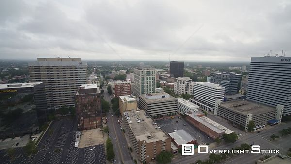 South Carolina Columbia Aerial Panoramic view of downtown cityscape
