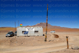 Bolivian immigration building at Hito Cajon border crossing, Eduardo Avaroa Andean Fauna National Reserve, Bolivia