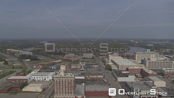 Montgomery Alabama view of the downtown sklyine and gun island chute  DJI Inspire 2, X7, 6k