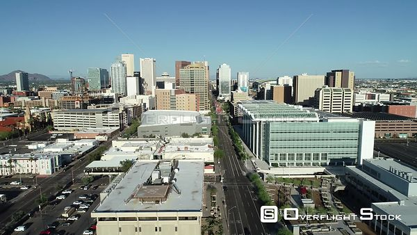 Drone Video Downtown Phoenix Arizona During COVID-19 Pandemic