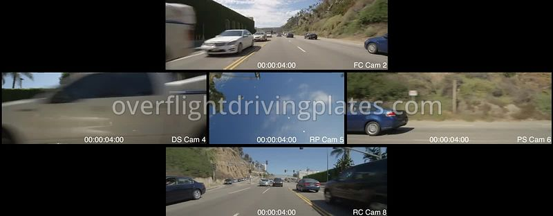 Highway 1  Santa Monica California USA - Driving Plate Preview 2012