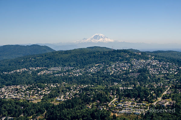 Eastern Seattle with Mount Rainier Washington USA