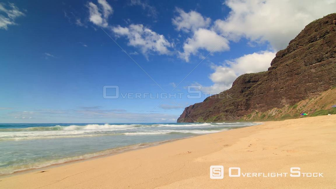 Beautiful beach time lapse clip. Hawaii