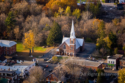 Church in the Village of Ormstown Quebec Canada