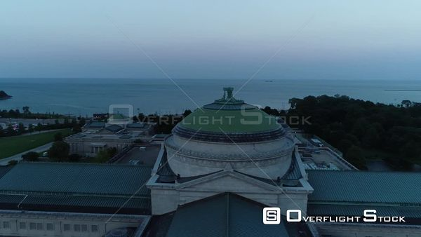 Museum of Science and Industry, Chicago Chicago Illinois Drone Aerial View