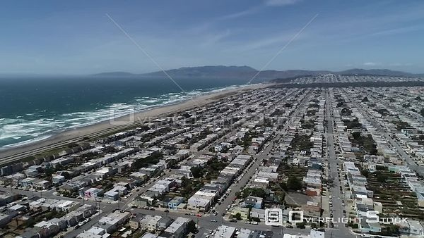Sunset Residential District San Francisco California Drone Video