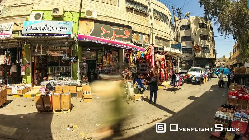 Corwds time lapse of market in Amman Jordan