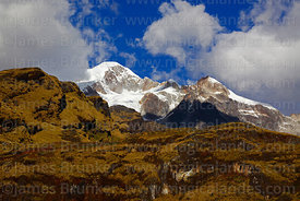 Pico Schulze (a peak on the west side of the Mt Illampu massif), Bolivia