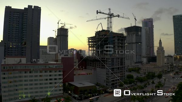 Society Biscayne Construction Downtown Miami Fl Aerial Video