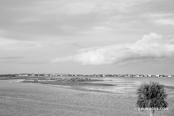 MATANZAS RIVER ST. AUGUSTINE FLORIDA BLACK AND WHITE