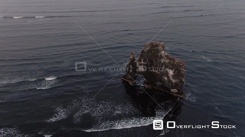 The Famous Lavic Stone on the Sea in Hvitserkur, North Iceland
