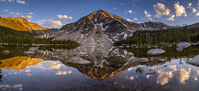 Crescent Lake Reflection Panorama