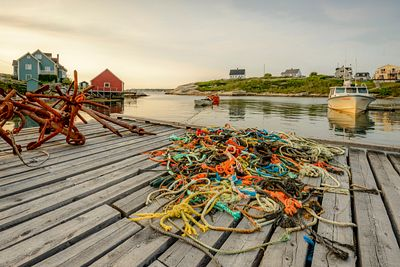 Old fishing gear left on a dock in Peggy's Cove