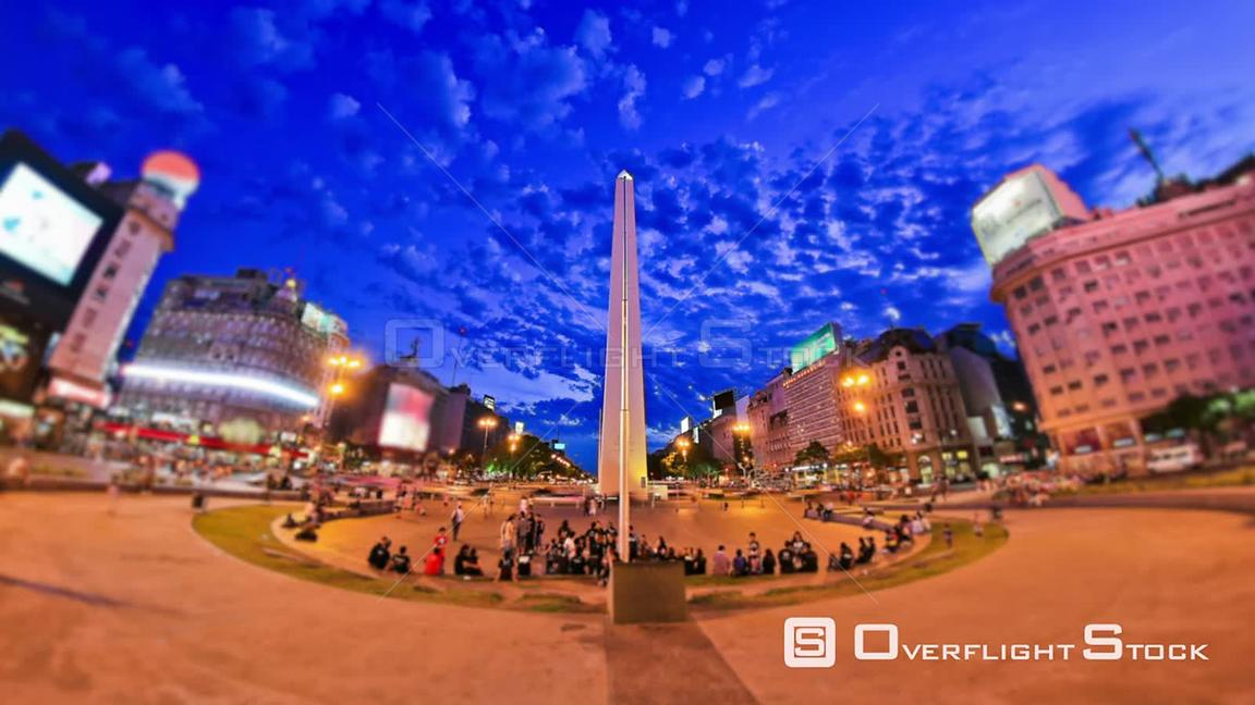 City and pedestrian traffic time lapse in Buenos Aires Argentina