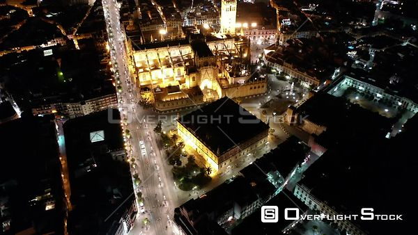 Drone Video Cathedral of Seville Spain