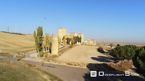 Town of Ampudia  Spain Drone Video View