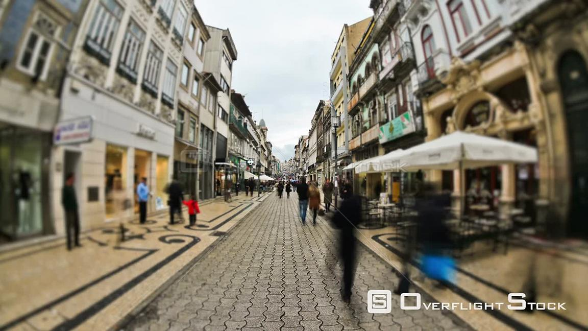 City and pedestrians time lapse in Porto