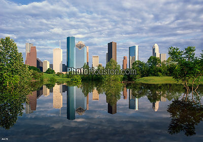Houston Skyline Reflection