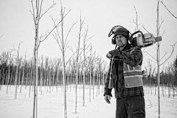 Montreal editorial photography, South Shore portrait photographer, arborist Xavier